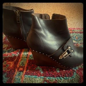 See By Chloe Wedge Booties size 39